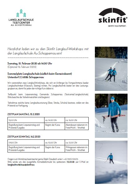 Skinfit Langlauf- Workshops 15.02.2020 & 16.02.2020